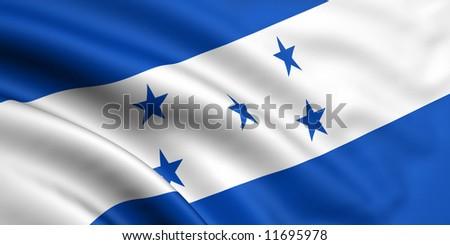 Flag Of Honduras - stock photo