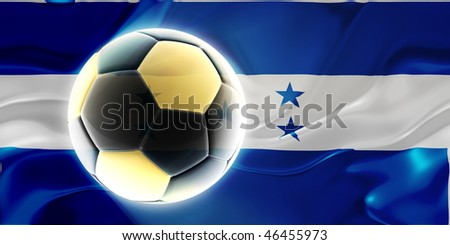 Flag of Honduras, national country symbol illustration wavy fabric sports soccer football - stock photo