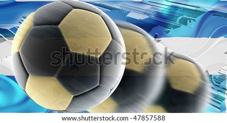 Flag of Honduras, national country symbol illustration wavy sports soccer football - stock photo