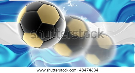 Flag of Honduras, national country symbol illustration wavy sports soccer football org organization website - stock photo