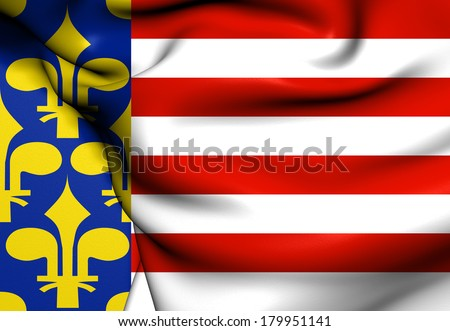 Flag of Hungary From 1301 Untill 1382. Close Up.    - stock photo