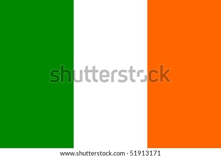 Flag of Ireland - stock photo