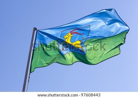 Flag of Istria province in Croatia - stock photo