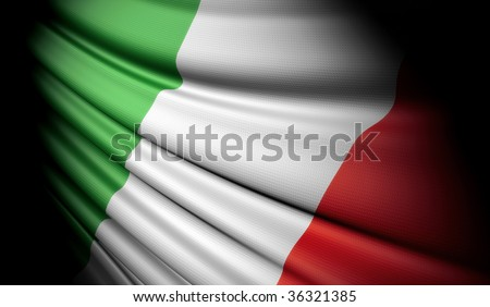 Flag of Italy - stock photo