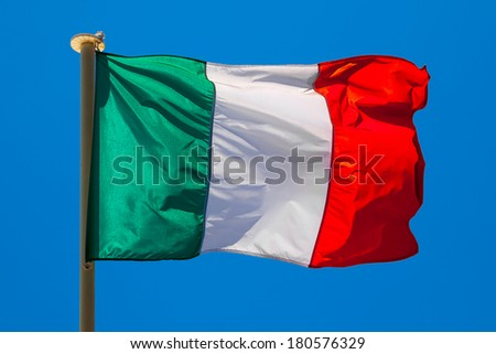 Flag of Italy. Abstract background.