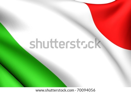 Flag of Italy. Close up.