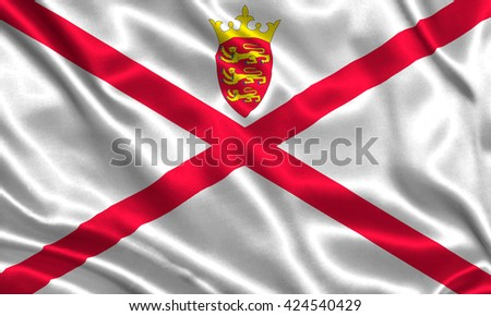 Flag of Jersey - stock photo