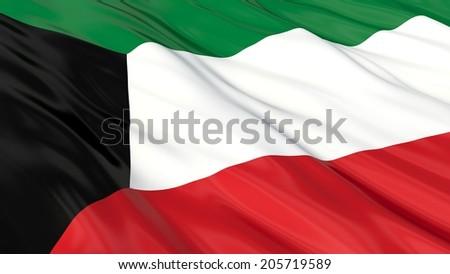 Flag of Kuwait.  - stock photo