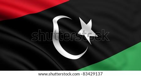 Flag Of Libya - stock photo