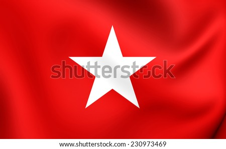 Flag of Maastricht, Netherlands. Close Up. - stock photo