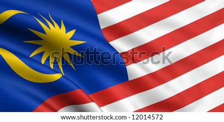 Flag Of Malaysia - stock photo