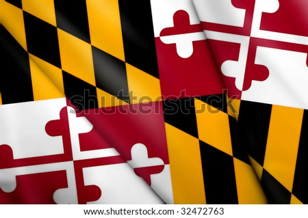 Flag of Maryland (USA) - stock photo