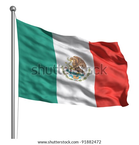 Flag of Mexico - stock photo