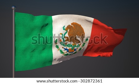Flag of Mexico, 3d illustration