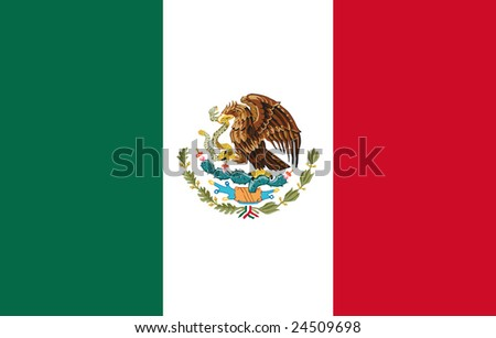 Flag of Mexico original - stock photo