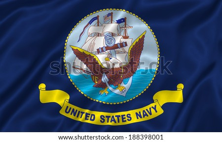 Flag of Naval Forces US - stock photo