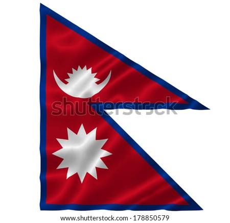 Flag of Nepal - stock photo