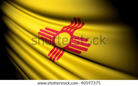 Flag of New Mexico (USA) - stock photo