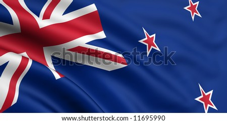 Flag Of New Zealand - stock photo