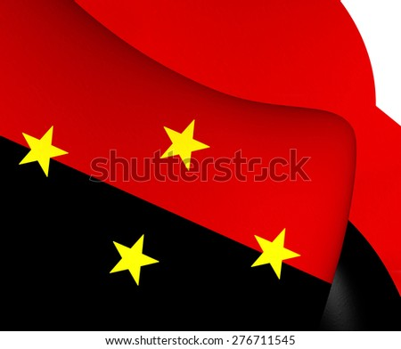 Flag of North Santander, Colombia. Close Up. - stock photo