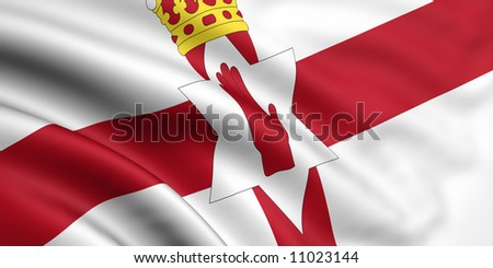 Flag Of Northern Ireland - stock photo