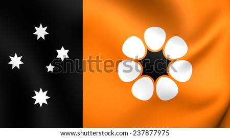Flag of Northern Territory, Australia. Close Up. - stock photo