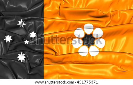 Flag of Northern Territory, Australia. 3D Illustration. - stock photo