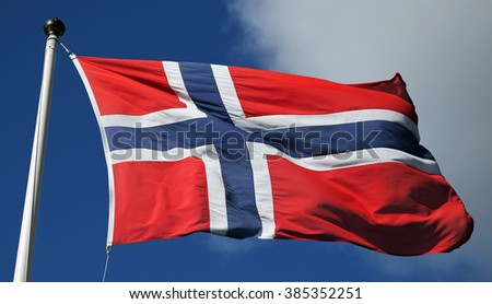 Flag of Norway - stock photo