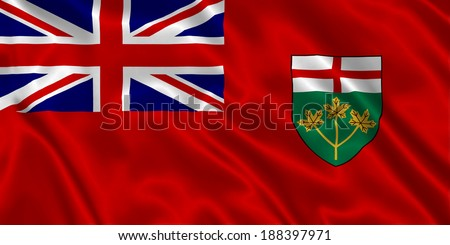 Flag of Ontario - stock photo