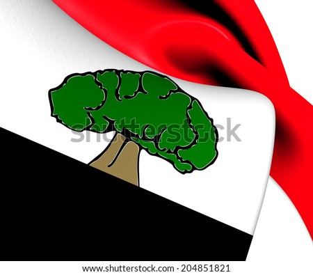 Flag of Oromia Region, Ethiopia. Close Up.    - stock photo