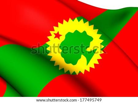 Flag of Oromo Liberation Front. Close Up.    - stock photo