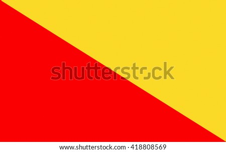 Flag of Palermo is a city in Insular Italy, the capital of both the autonomous region of Sicily and the Metropolitan City of Palermo - stock photo