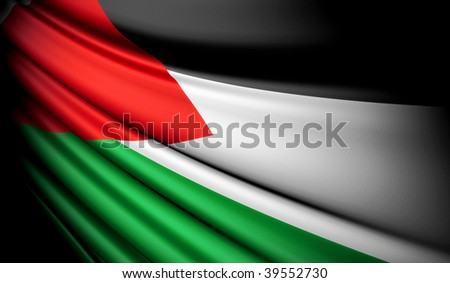 Flag of Palestinians - stock photo