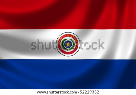 Flag of Paraguay - stock photo