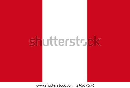 flag of peru original - stock photo