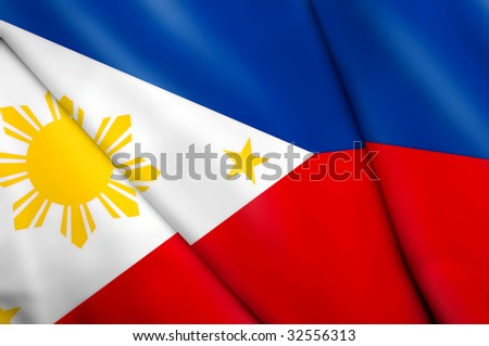 Flag of Philippines - stock photo