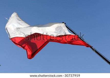 Flag of Poland - stock photo