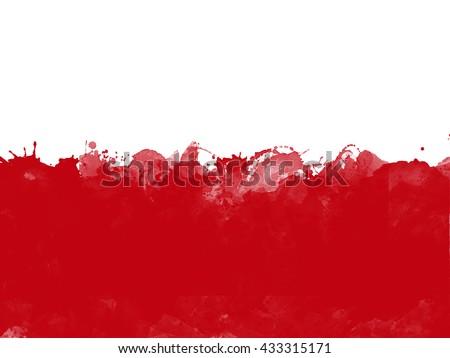 Flag of Poland , grunge style - stock photo