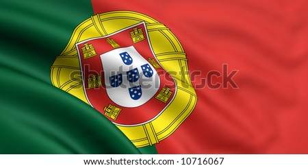 Flag Of Portugal - stock photo