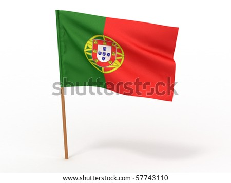 Flag of portugal . 3d - stock photo