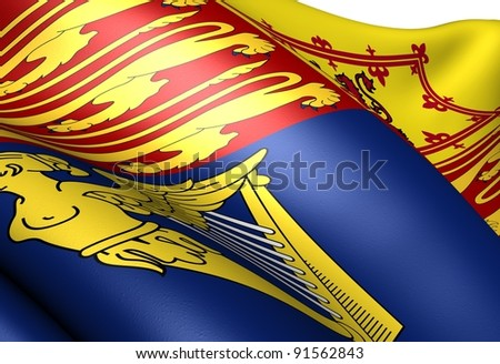 Flag of Royal Standard of the United Kingdom. Close up. - stock photo