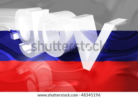 Flag of Russia, national country symbol illustration wavy gov government website - stock photo
