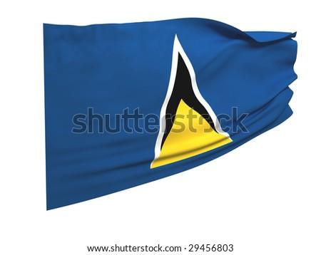 flag of saint lucia - stock photo