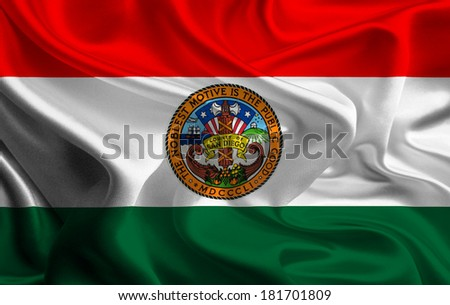 Flag of San Diego County of the USA - stock photo