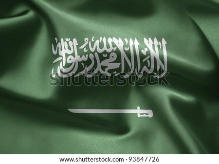Flag of Saudi Arabia - stock photo