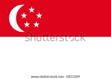 Flag of Singapore - stock photo