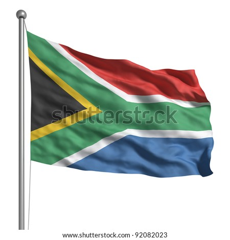 Flag of South Africa - stock photo