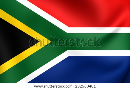 Flag of South Africa. Close Up. - stock photo