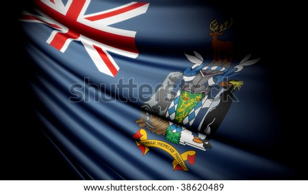 Flag of South Georgia and the South Sandwich Islands (UK) - stock photo