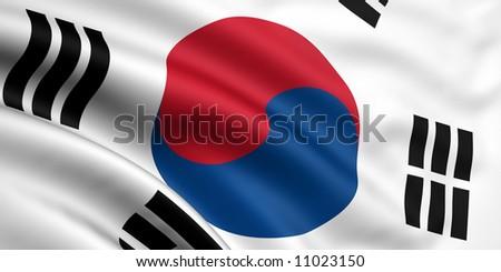 Flag Of South Korea - stock photo